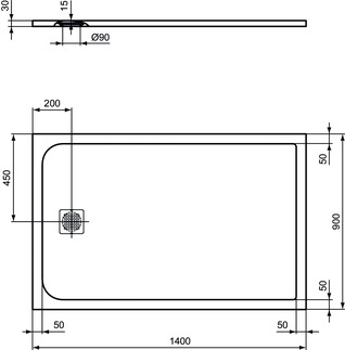 IS_UltraFlatS_K8256_PrListDrw_NN_shower-tray140x90