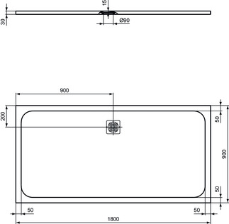 IS_UltraFlatS_K8306_PrListDrw_NN_shower-tray180x90