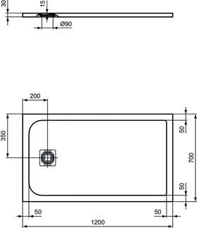 IS_UltraFlatS_K8221_PrListDrw_NN_shower-tray120x70