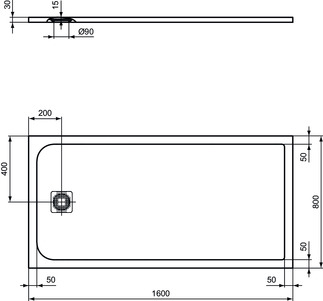 IS_UltraFlatS_K8276_PrListDrw_NN_shower-tray160x80